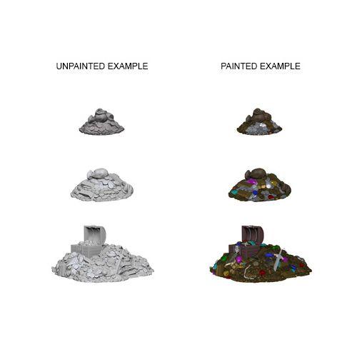 Pathfinder Battles Unpainted Minis - Treasure Piles