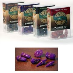 Polyhero Dice: Warrior Set - Vorpal Purple With Amber