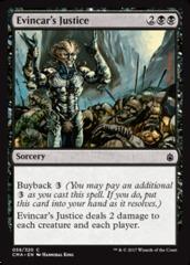Evincar's Justice