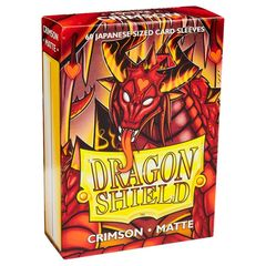 Dragon Shield - Matte Crimson 60 Count Japanese size Sleeves