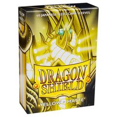 Dragon Shield Sleeves: Matte Yellow (60 Japanese Size)