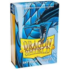 Dragon Shield Sleeves: Matte Sky Blue (60 Japanese Size)