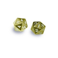 Ultra Pro - Dice Heavy Metal D20 2-Dice Set Gold