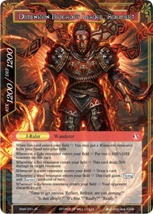 Swordsman of Fire // Dimension Brigade's Leader, Adelbert - ENW-031 - R - Full Art