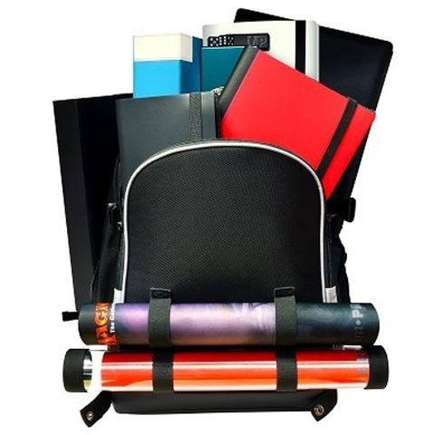 Citadel Backpack - Black With Silver Trim