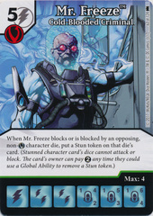 Mr. Freeze - Cold-Blooded Criminal (Die and Card Combo)
