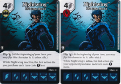 Nightwing - Escrima Sticks (Die and Card Combo) - Foil