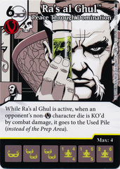 Ra's al Ghul - Peace Through Domination (Die and Card Combo) - Foil