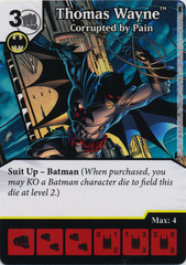 Thomas Wayne - Corrupted by Pain (Die and Card Combo) - Foil