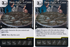 Two-Face's Coin - Tails, You Lose (Die and Card Combo) - Foil