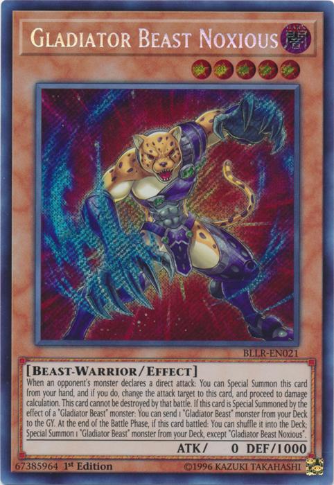 Gladiator Beast Noxious - BLLR-EN021 - Secret Rare - 1st Edition