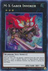 M-X-Saber Invoker - BLLR-EN063 - Secret Rare - 1st Edition on Channel Fireball