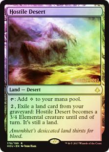 Hostile Desert - Foil - Prerelease Promo