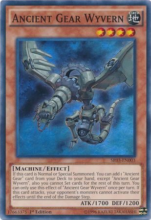 Ancient Gear Wyvern - SR03-EN003 - Super Rare - Unlimited Edition