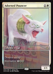 Adorned Pouncer (Hour of Devastation Game Day) on Channel Fireball