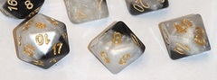 Gate Keeper Games - Halfsies Dice - Yin Yang Gold 7-Dice Set