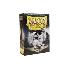 Dragon Shield Sleeves: Matte White (Box Of 60)