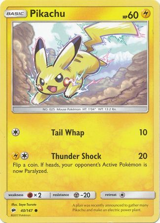 Pikachu - 40/147 - Common