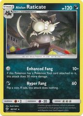 Alolan Raticate - 82/147 - Rare on Channel Fireball
