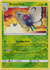 Butterfree - 3/147 - Rare - Reverse Holo on Channel Fireball