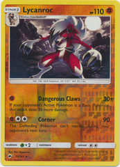 Lycanroc - 75/147 - Holo Rare - Reverse Holo