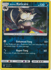 Alolan Raticate - 82/147 - Rare - Reverse Holo on Channel Fireball