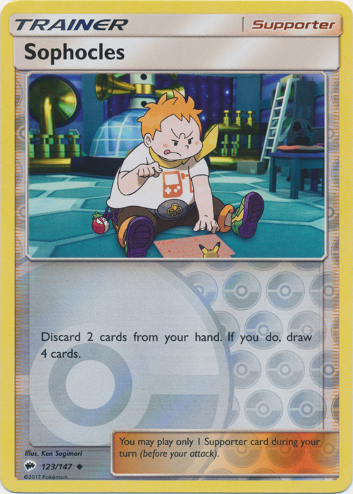 Sophocles - 123/147 - Uncommon - Reverse Holo