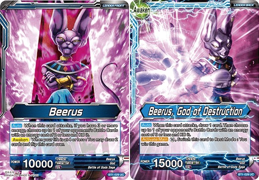 Beerus // Beerus, God of Destruction - BT1-029 - UC