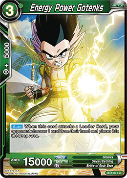 Energy Power Gotenks - BT1-071 - C