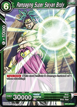 Rampaging Super Saiyan Broly - BT1-075 - C