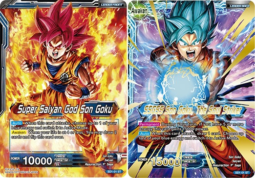 Super Saiyan God Son Goku // SSGSS Son Goku, The Soul Striker - SD1-01 - ST