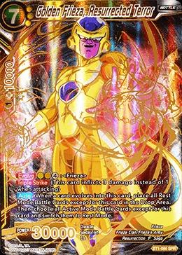 Golden Frieza The Resurrected Terror Special Rare Bt1