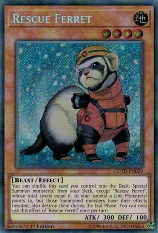 Rescue Ferret - COTD-EN029 - Secret Rare - 1st Edition
