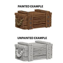 Deep Cuts Unpainted Miniatures - Crates