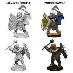 Dungeons And Dragons: Nolzur's Marvelous Unpainted Miniatures - Dragonborn Male Paladin