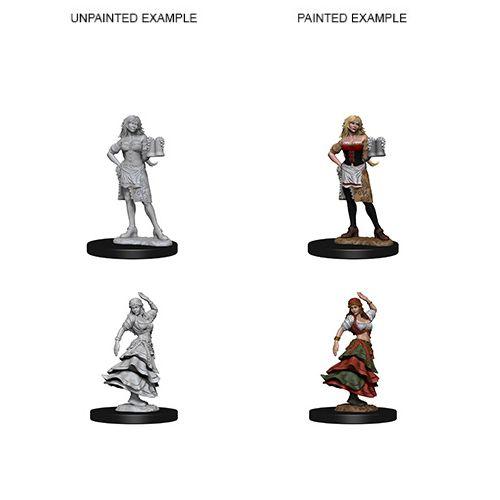 Pathfinder Deep Cuts Unpainted Miniatures: W4 Bartender/Dancing Girl