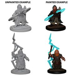Deep Cuts Unpainted Miniatures - Dwarf Male Sorcerer