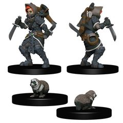 Wardlings Miniatures: Girl Rogue And Badger