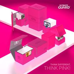 Ultimate Guard Twin Flip'N'Tray Deck Case 160+ Standard Size Xenoskin Pink