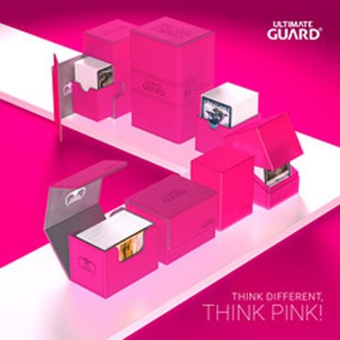 Ultimate Guard Twin Flip'N'Tray Deck Case 200+ Standard Size Xenoskin Pink