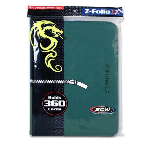 BCW Z-Folio 9 Pocket Lx Binder Teal