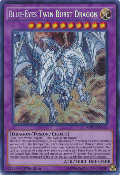 Blue-Eyes Twin Burst Dragon - MP17-EN056 - Secret Rare - 1st Edition