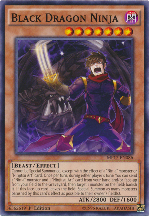 Black Dragon Ninja - MP17-EN086 - Common - 1st Edition