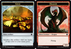 Gold // Dragon (4/4) Token