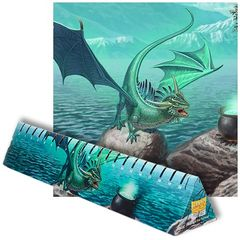 Dragon Shield: Playmat - Matte Mint  Bayaga Box Damaged