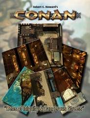 Conan RPG: Dens Of Iniquity & Streets Of Terror Tile Set