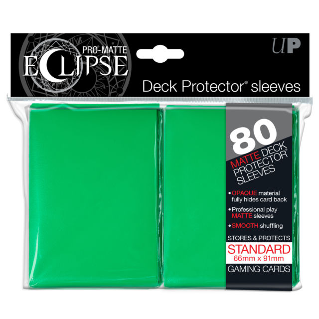 Ultra Pro - Standard Size Pro-Matte Eclipse 80 ct Sleeves - Green