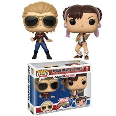 Pop! Games: Capcom Vs. Marvel: 2 Pack - Captain Marvel Vs Chun-Li