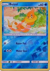 Buizel - 22/73 - Common - Reverse Holo on Channel Fireball