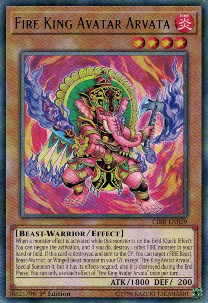 Fire King Avatar Arvata - CIBR-EN029 - Rare - 1st Edition